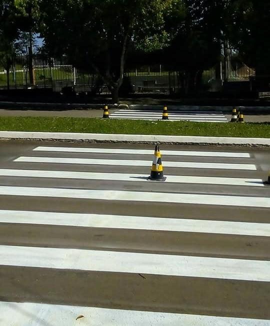 Foto de capa da notícia: Melhorias Departamento de Trânsito renova sinalização viária