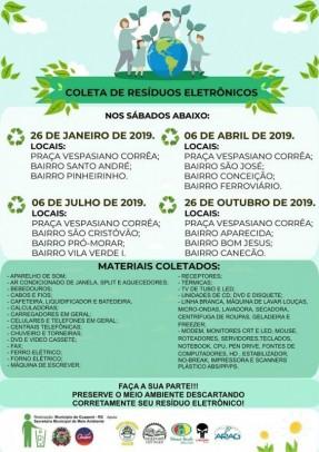 Foto de capa da notícia: Sábado é dia de recolhimento de material eletrônico