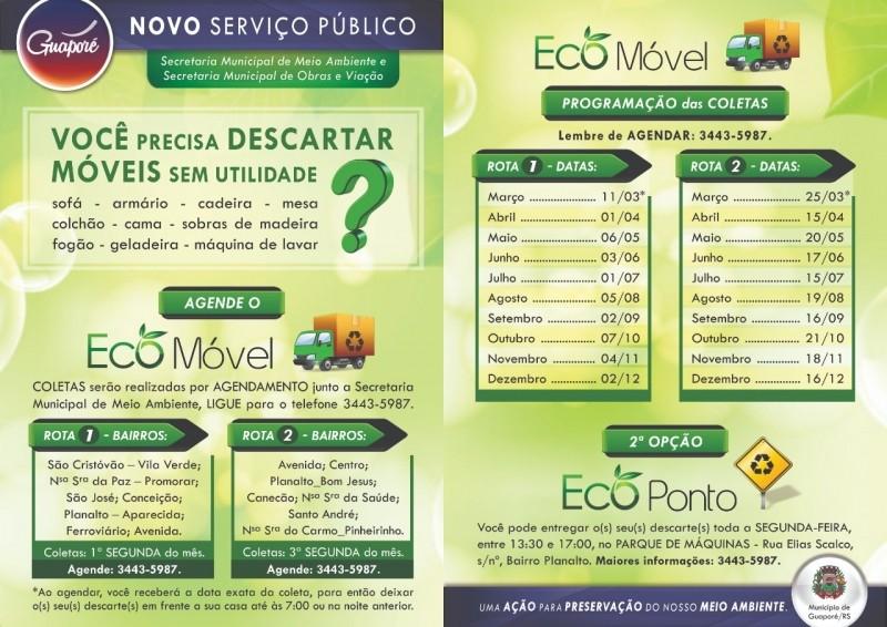 Foto de capa da notícia: Poder Público lança o Eco Móvel e o Eco Ponto