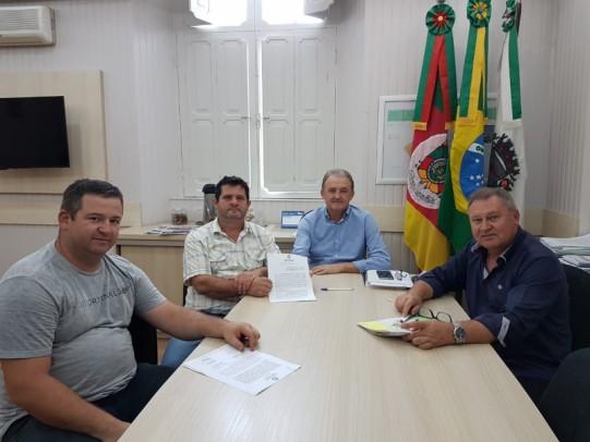 Foto de capa da notícia: Conquista: Bairro São José ganhará  quadra esportiva coberta