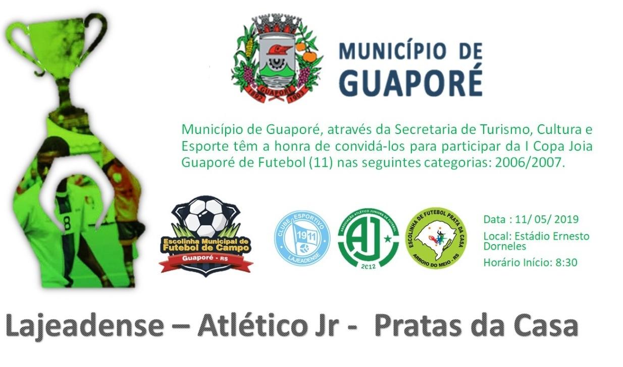 Foto de capa da notícia: Poder Público realiza a I Copa Joia 2019 em Guaporé