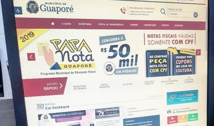 Foto da Notícia Guaporé destaca-se em transparência pública