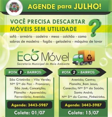 Foto de capa da notícia: Eco Móvel: agende o recolhime nto de volumosos!