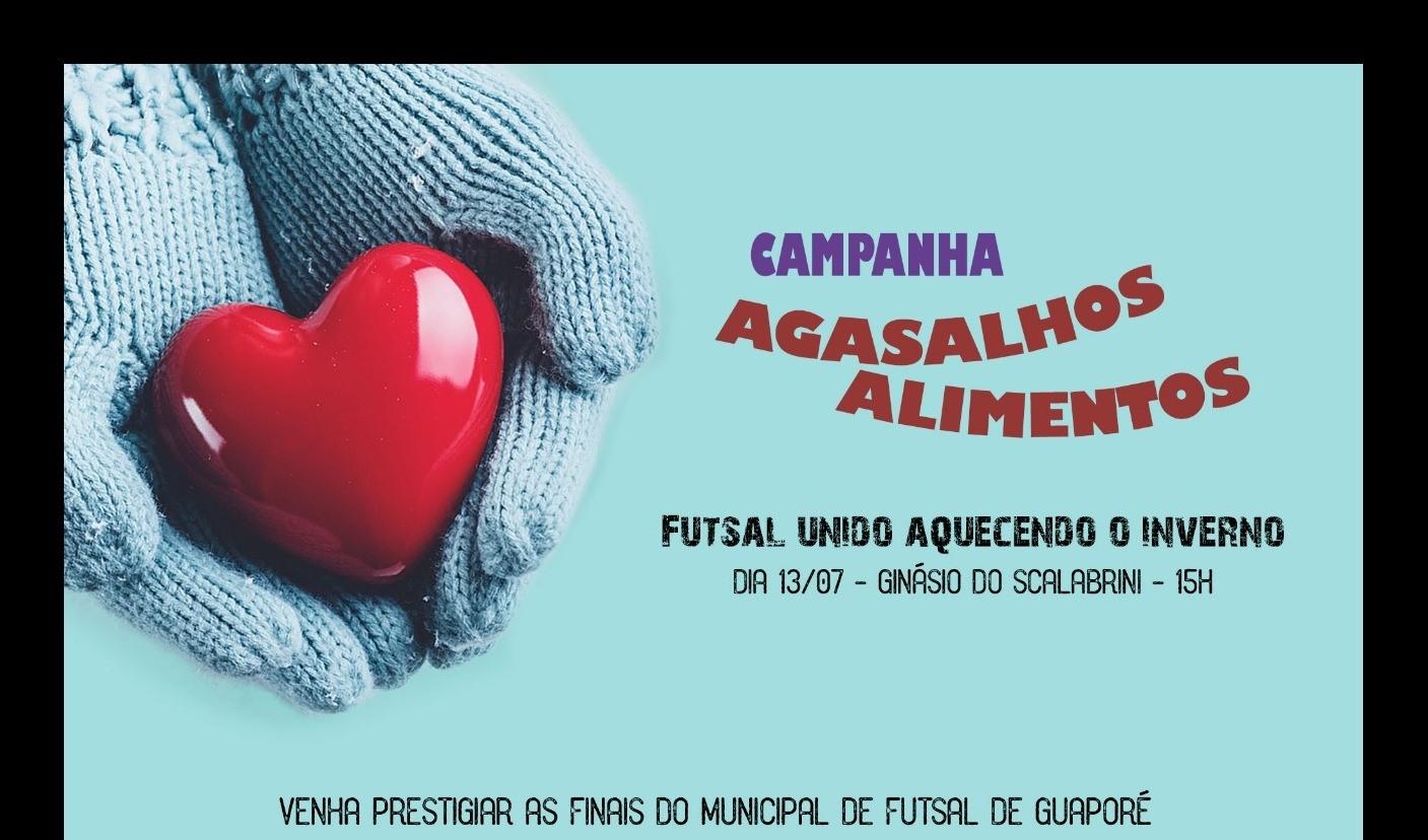 Foto de capa da notícia: Futsal: Poder Público, equipes e meios de comunicação realizam Campanha do Agasalho e Alimentos