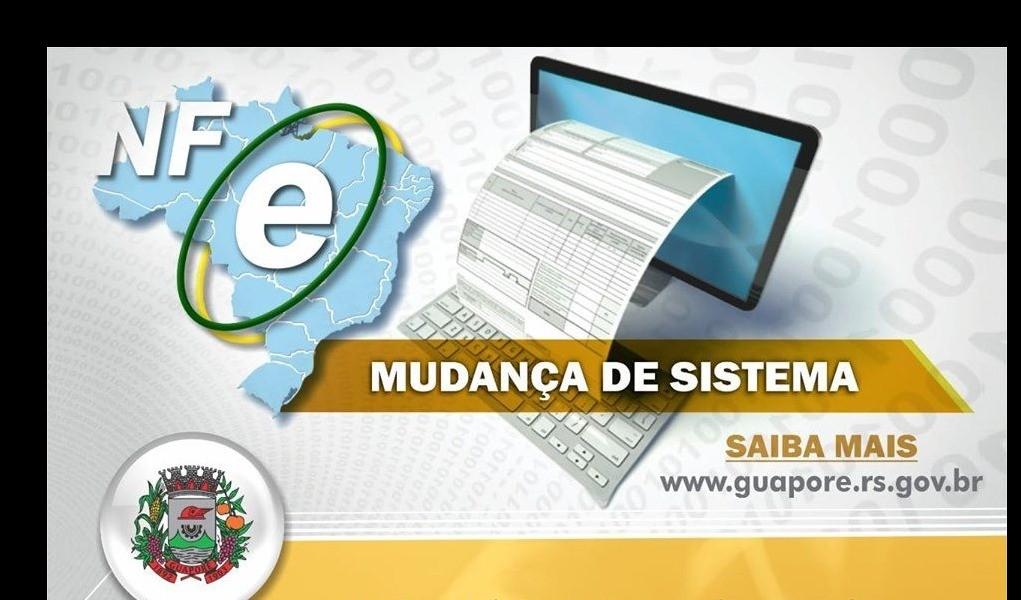 Foto de capa da notícia: Atenção: Mudança de Sistema Nota Fiscal Eletrônica