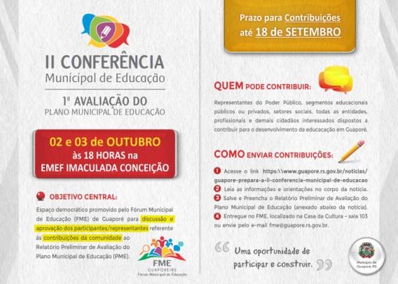 Foto de capa da notícia: Guaporé prepara a II Conferência Municipal de Educação