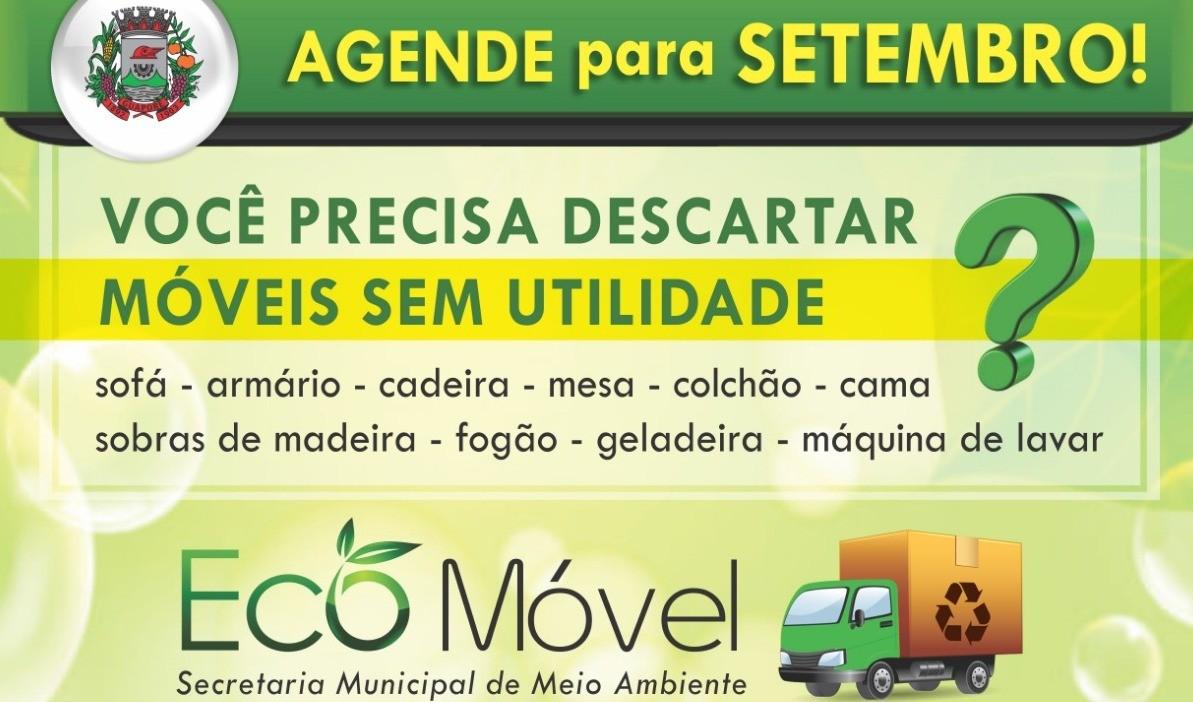 Foto de capa da notícia: Eco Móvel: agende o recolhimento de volumosos para setembro!