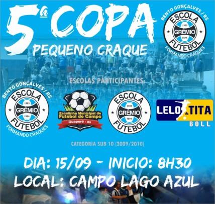 Foto de capa da notícia: Escolinha Municipal de Guaporé disputará a 5ª Copa Pequeno Craque