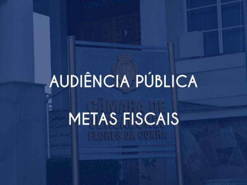 Foto de capa da notícia Audiência Pública - Metas Fiscais do 1º quadrimestre de 2020