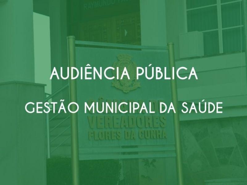 Foto de capa da notícia Audiência Pública - Relatório de Gestão Municipal da Saúde 1º quadrimestre de 2020