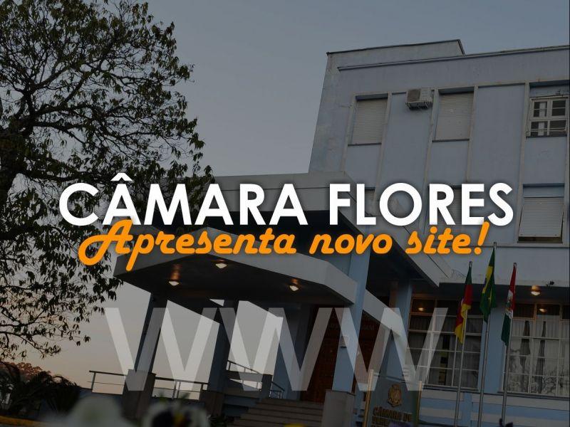 Foto de capa da notícia Câmara Flores apresenta novo site.