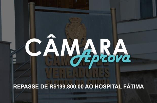 Foto de capa da notícia: Câmara aprova repasse de R$199.800,00 ao hospital Fátima.