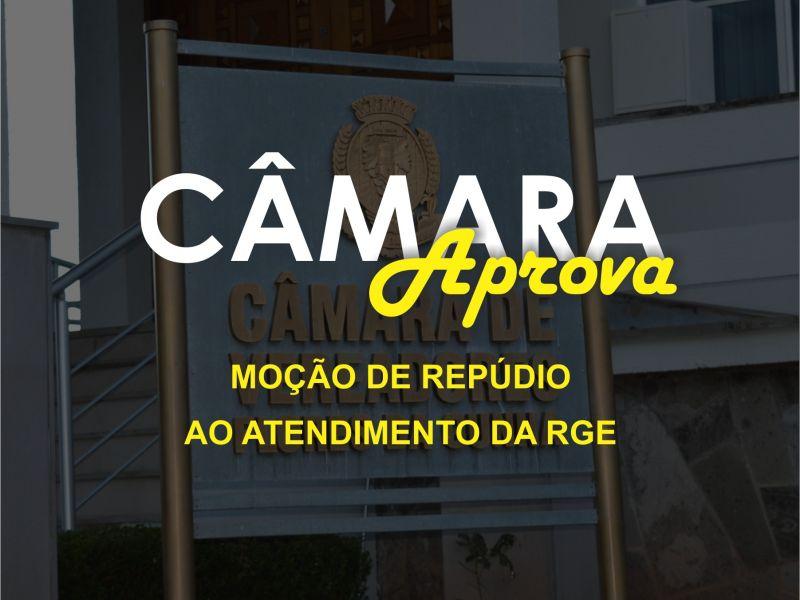 Foto de capa da notícia Moção de Repúdio pelo atendimento da RGE.