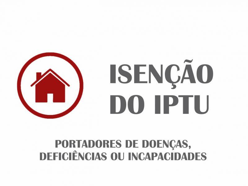 Foto de capa da notícia Isenção do IPTU para portadores de doenças, deficiências ou incapacidades.