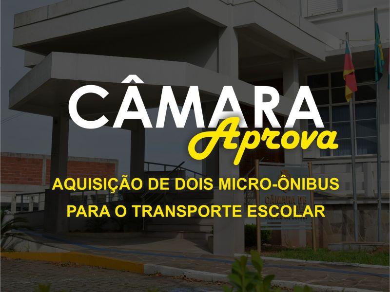 Foto de capa da notícia Câmara aprova a aquisição de dois micro-ônibus para o transporte escolar.