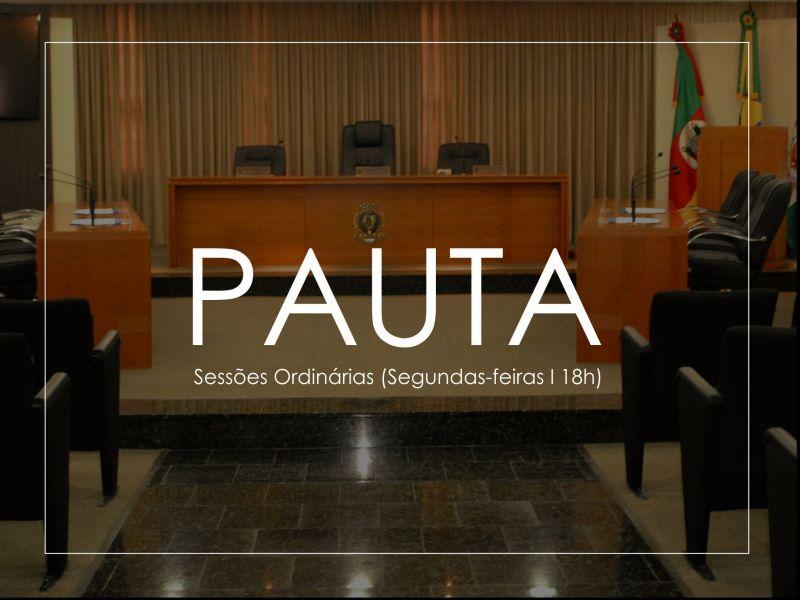Foto de capa da notícia Pauta - Sessão Ordinária (16.11.2020 - 18h)