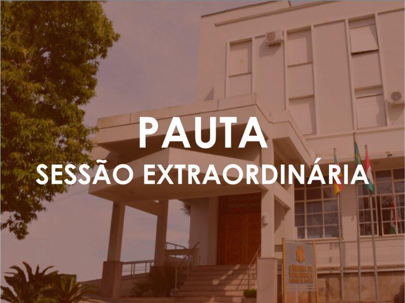Foto de capa da notícia Pauta - Sessão Extraordinária (23.11.2020 - 20h)