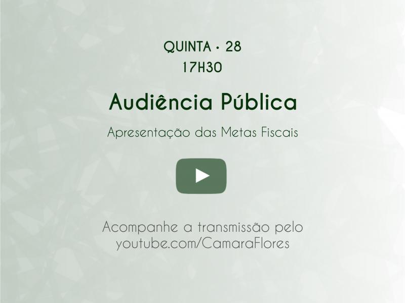 Foto de capa da notícia: Audiência Pública apresentará Metas Fiscais