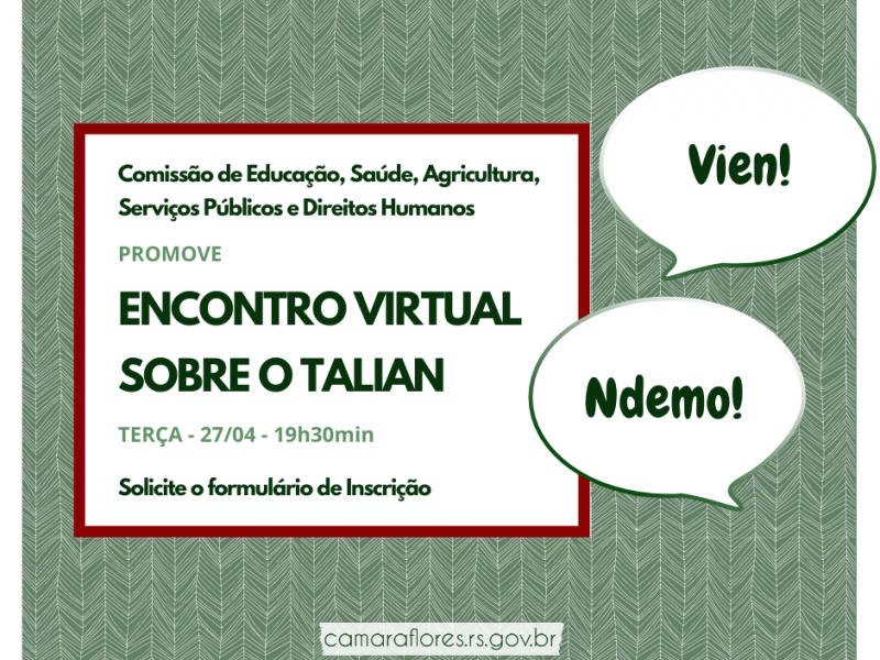 Foto de capa da notícia Comissão de Educação promove 2º Encontro virtual sobre o talian