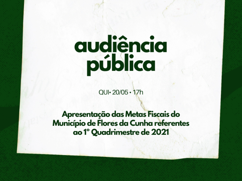 Foto de capa da notícia Câmara promove Audiência para apresentação das Metas Fiscais