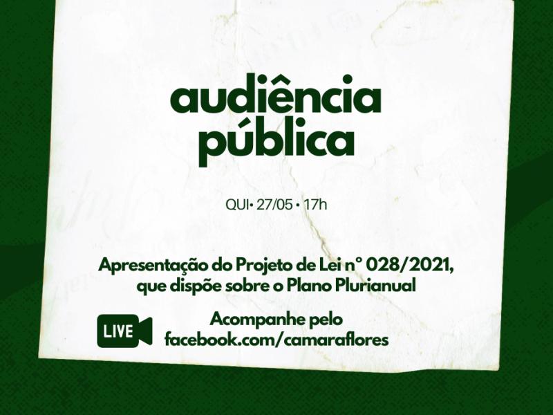 Foto de capa da notícia Câmara realiza audiência de apresentação do Plano Plurianual