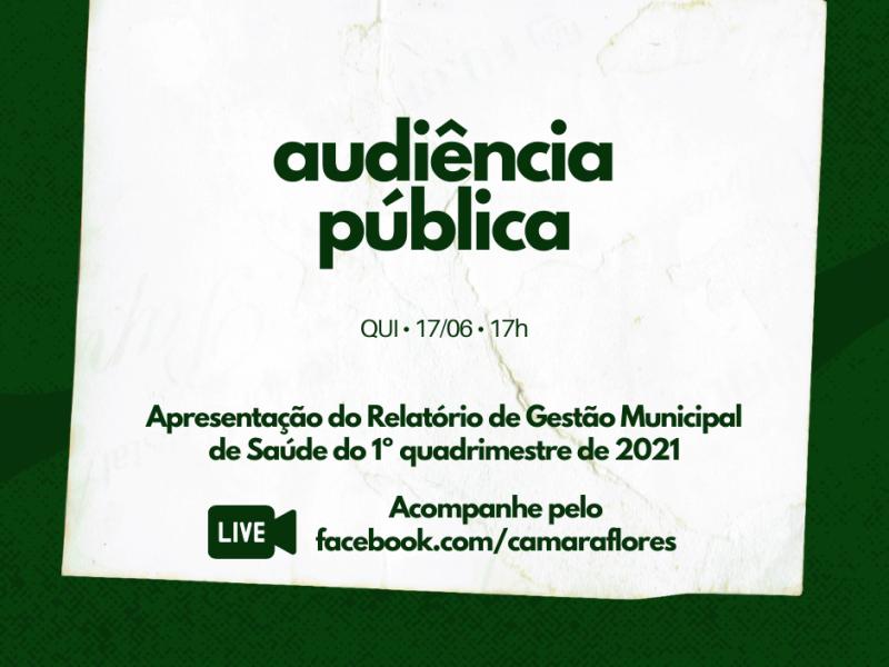 Foto de capa da notícia Audiência Pública apresenta Relatório de Saúde