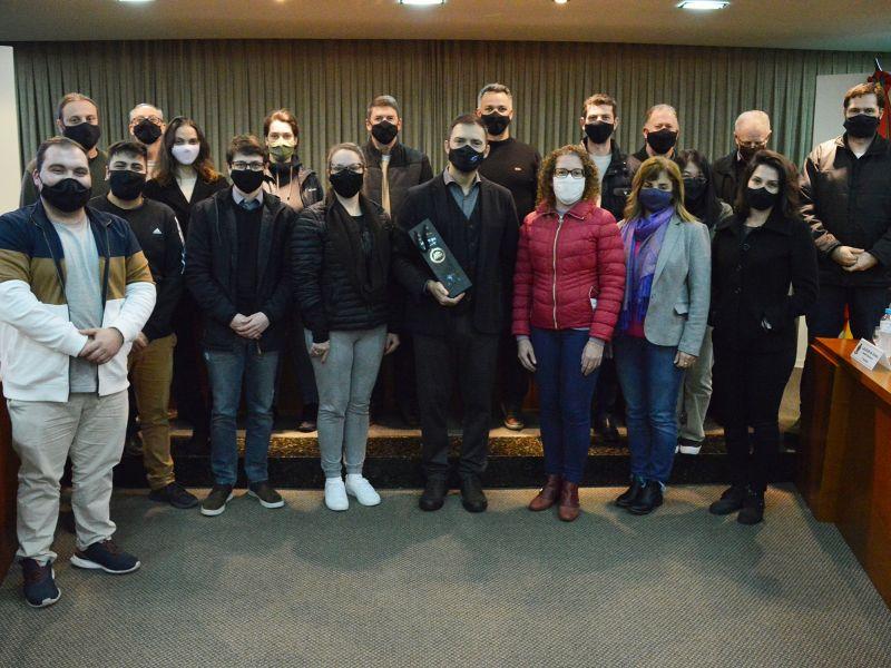 Foto de capa da notícia Vereadores e servidores da Câmara participam de curso com IGAM RS