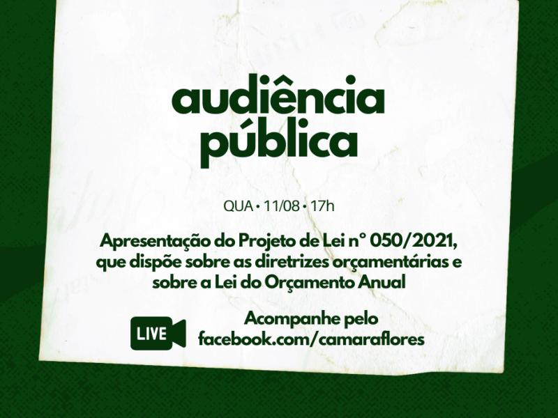 Foto de capa da notícia Audiência Pública debate LDO e LOA