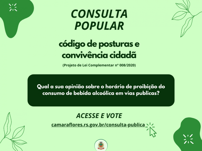 Foto de capa da notícia Câmara lança consulta pública sobre o Código de Posturas