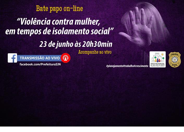 Foto de capa da notícia Executivo Municipal e Policia Civil abordarão em um bate papo on-line sobre Violência contra  a mulher em tempos de isolamento social