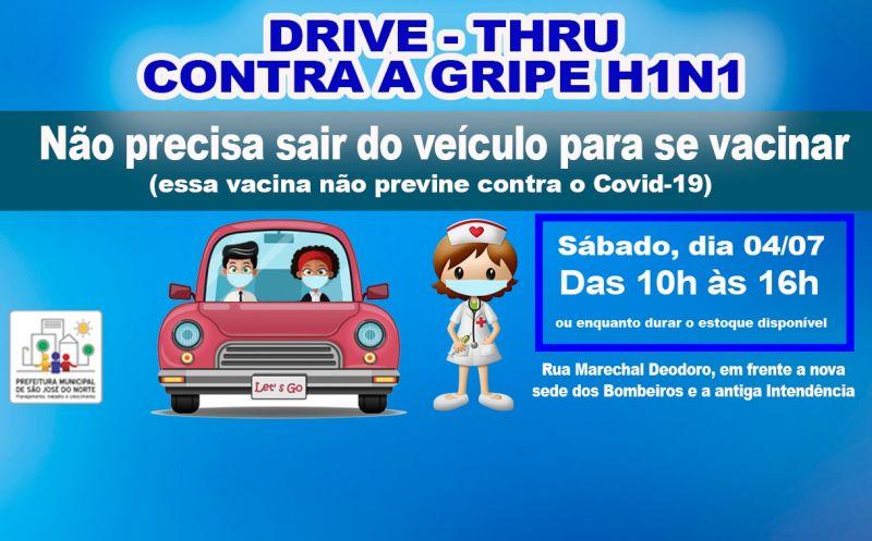 Foto de capa da notícia Vacinação através do serviço Drive Thru (vacina no carro) acontece no próximo sábado para toda população