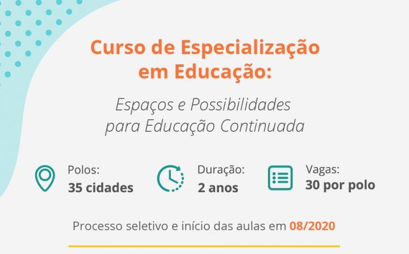 Foto de capa da notícia Executivo Municipal divulga inscrições para o curso de Pós-Graduação em Educação: Espaços e Possibilidades para Educação Continuada (CPEaD) do IFSul
