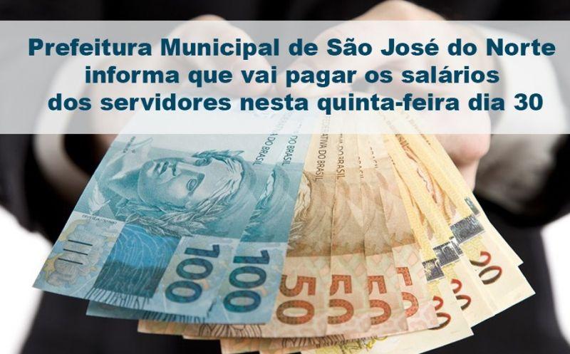 Foto de capa da notícia Prefeitura Municipal vai pagar os salários dos servidores nesta quinta-feira