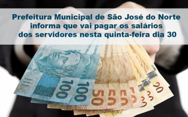 Foto de capa da notícia: Prefeitura Municipal vai pagar os salários dos servidores nesta quinta-feira