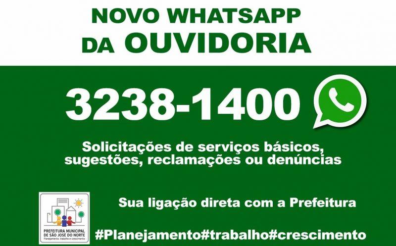 Foto de capa da notícia: Executivo divulga troca de número do Whatsapp da Ouvidoria