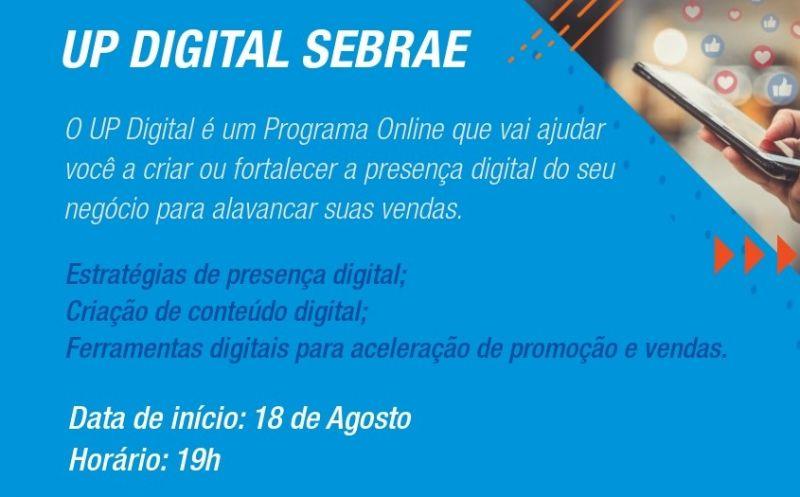 Foto de capa da notícia SMF divulga curso UP digital Sebrae on-line para empreendedores