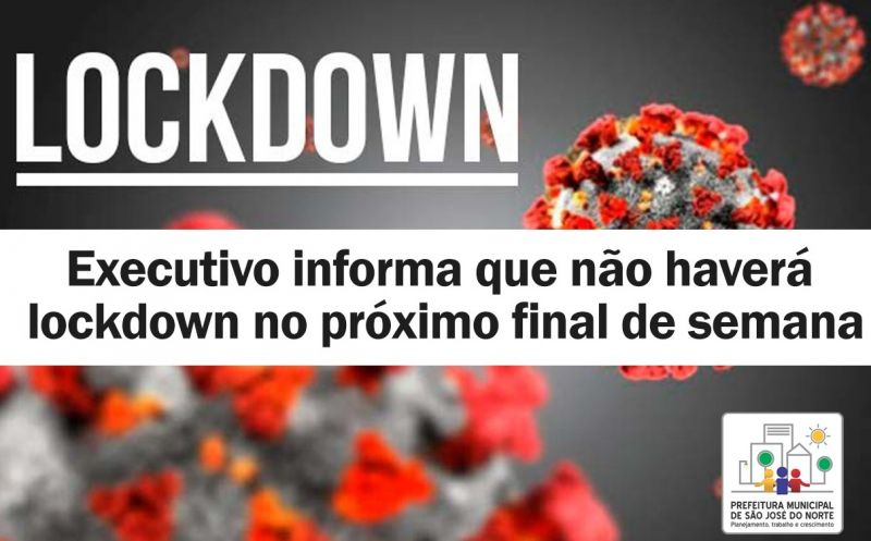 Foto de capa da notícia Executivo informa que não haverá lockdown no próximo final de semana