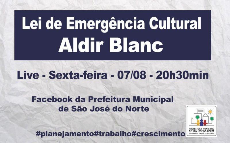 Foto de capa da notícia Executivo Municipal realiza live para explicar o funcionamento e quem pode ser beneficiado pela Lei Emergencial de Cultura Aldir Blanc