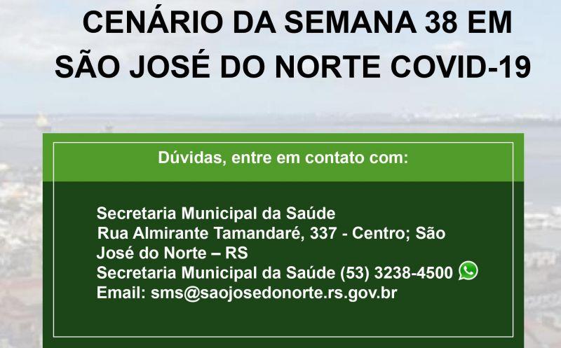 Foto de capa da notícia: Secretaria da Saúde divulga terceiro boletim semanal com detalhamento de casos de Covid-19 em São José do Norte