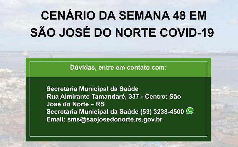 Foto de capa da notícia Secretaria da Saúde divulga décimo terceiro boletim semanal com detalhamento de casos de Covid-19 em São José do Norte