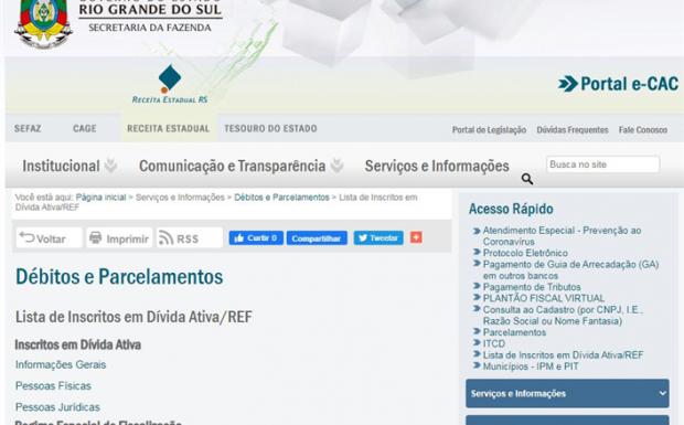 Foto de capa da notícia: Município divulga link para acesso a lista de devedores inscritos em Dívida Ativa no Estado