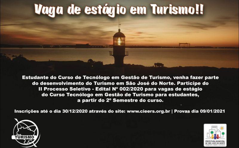 Foto de capa da notícia Prefeitura abre vagas de estágio em Turismo