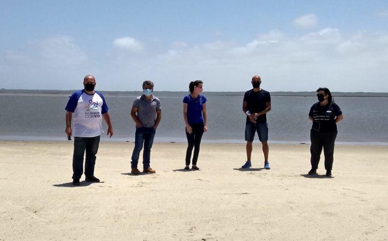 Foto de capa da notícia Organizadores da Extremo Sul Ultramarathon  visitam São José do Norte