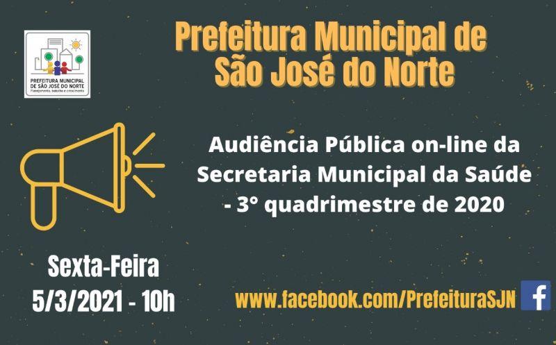 Foto de capa da notícia: Audiência Pública on-line trata do relatório de gestão municipal da SMS