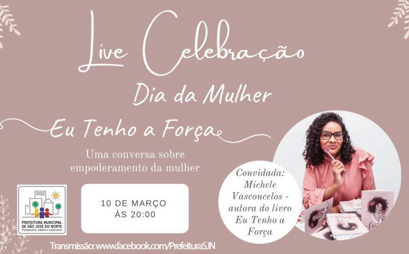 """Foto de capa da notícia Smec realiza uma Live com a autora do livro intitulado """"Eu tenho a força"""""""