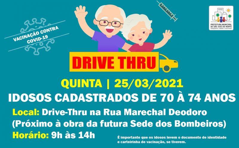 Foto de capa da notícia DRIVE THRU   VACINAÇÃO CONTRA COVID-19