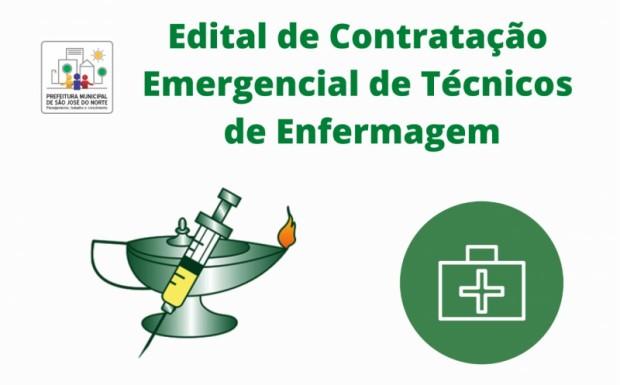 Foto de capa da notícia: SMS divulga edital de chamamento para contratação temporária e emergencial de Técnicos em enfermagem
