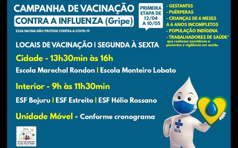 Foto de capa da notícia CAMPANHA DE VACINAÇÃO CONTRA A INFLUENZA (GRIPE)