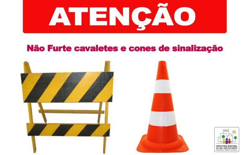 Foto de capa da notícia Furtos de cavaletes e cones dificultam a sinalização