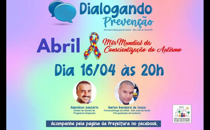 Foto de capa da notícia Dialogando Prevenção   Abril - Mês Mundial da Conscientização do Autismo